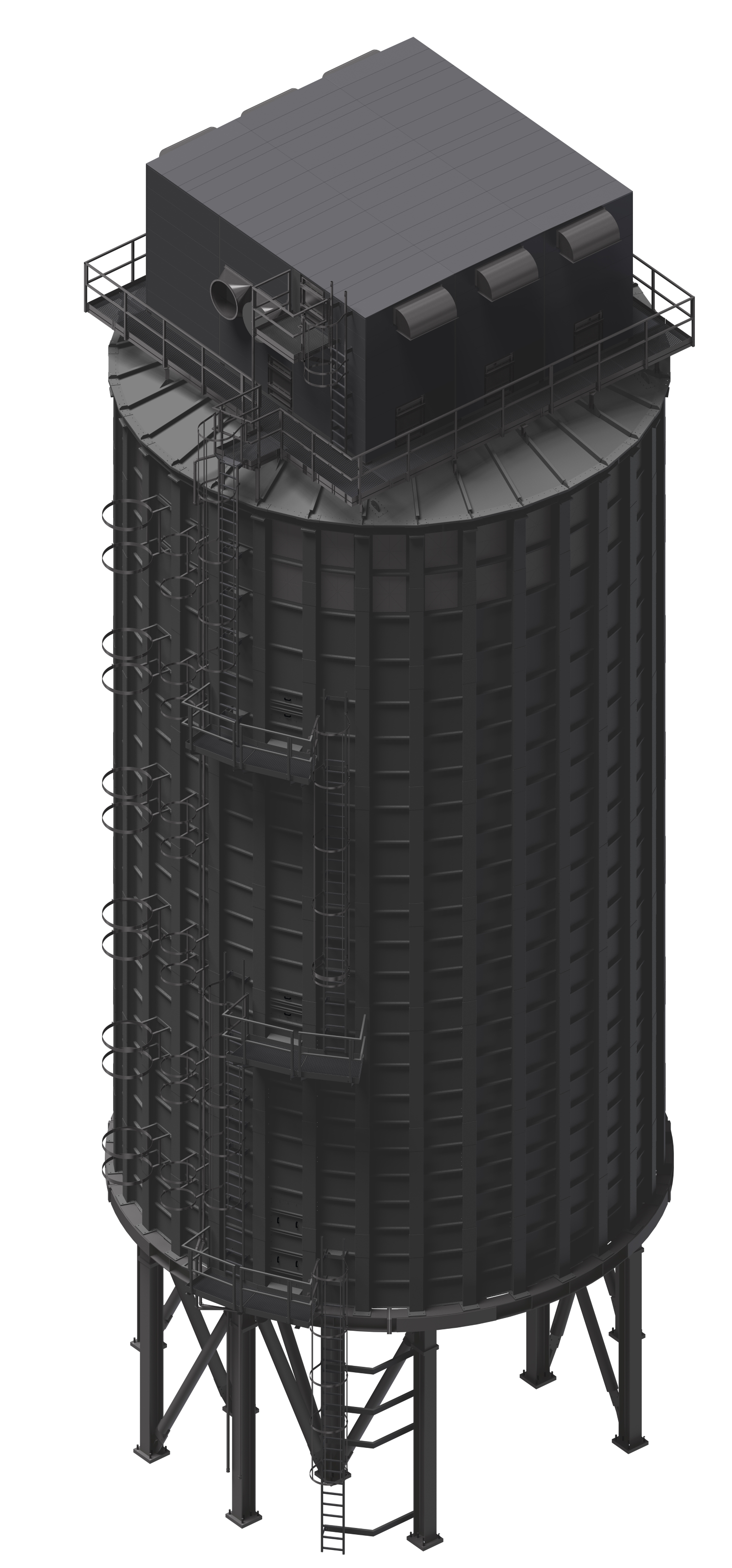 Sheet Metal Silo; R&R BETH FILTRATION project KLAUSNER LUMBER ONE, Florida